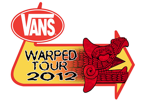 Warped Tour 2012 Falling In Reverse, Of Mice & Men, Yellowcard, Pierce The Veil Playing Warped Tour 2012